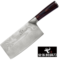 金門【金永利鋼刀】龍紋系列-K2a蔬果料理龍紋中片刀