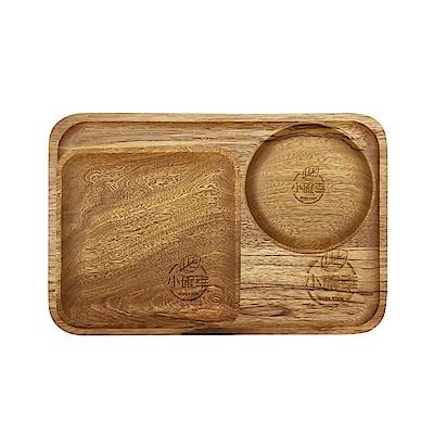 WIDE VIEW 原木質感印花餐盤三件組(UTM-04)