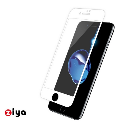 ZIYA iPhone7 4.7吋 防爆抗藍光玻璃保護貼 3D滿版 碳纖防裂邊
