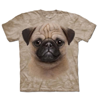 摩達客 美國進口The Mountain小巴哥犬純棉短袖T恤