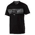 PUMA-男性慢跑系列RUN短袖T恤-黑色-歐規