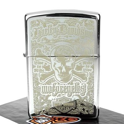 【ZIPPO】美系~哈雷~Harley-Davidson Skull-雷射雕刻加工打火機