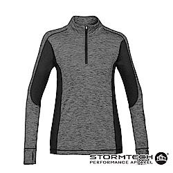 【加拿大STORMTECH】SPR-1W絕佳舒適吸排耐久彈力修身上衣-女-碳灰