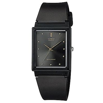 CASIO 經典復古款方形錶(MQ-38-1A)-黑面/25mm