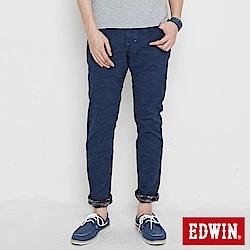 EDWIN EDGE迷彩貼合保溫直筒褲-男-丈青