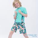 澳洲Sunseeker泳裝抗UV防曬短袖泳衣-大男童上衣/薄荷綠