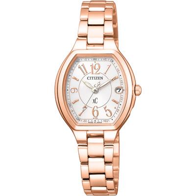 CITIZEN xC 憶戀梵蒂岡電波時計腕錶-ES9362-52W-25X23mm