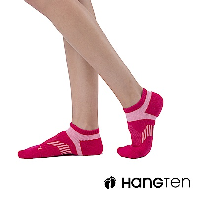 【HANG TEN】船型氣墊機能襪3雙入組(女)_桃紅(HT-A23002)