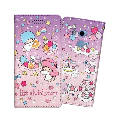 三麗鷗授權 雙子星 HTC U11+ / U11 Plus 甜心彩繪磁扣皮套(星...