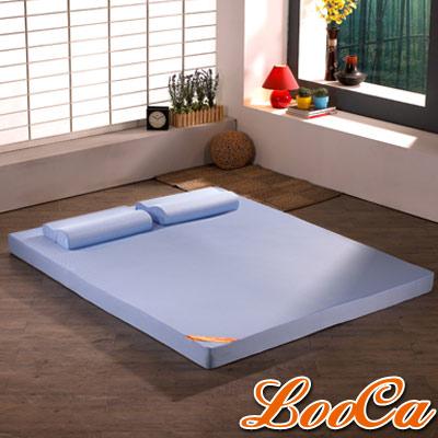 LooCa吸濕排汗6cm護頸記憶床墊-單人3尺