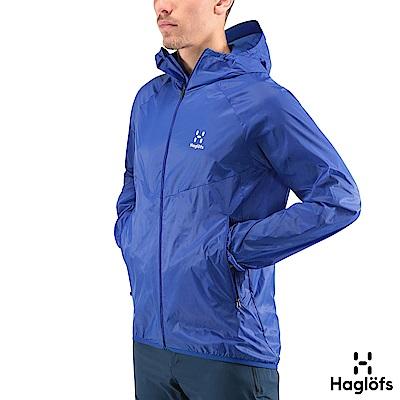 Haglofs 男 Skold 輕量連帽風衣外套 金屬藍色