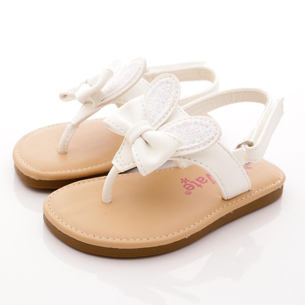 PV日系私藏 小兔耳柔軟涼鞋款 SE309 白 (寶寶段)T1