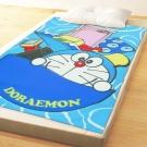 享夢城堡 薄刷毛毯100x150cm-哆啦A夢 時空旅行-藍
