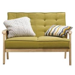沙發 雙人座 波里斯 實木布面沙發 品家居