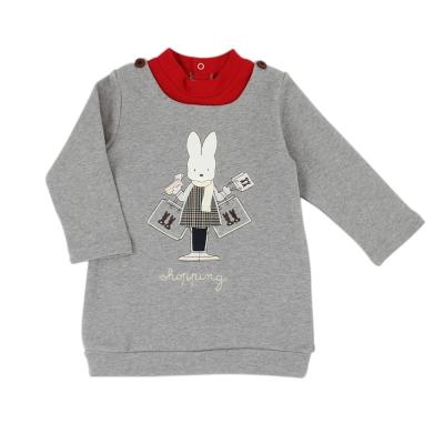 愛的世界 pappa&ciccia 純棉假兩件束口長袖上衣/2~4歲