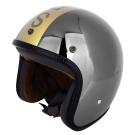 agnes b. SPORT金色b.logo安全帽-鏡面黑銀
