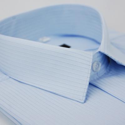 金‧安德森 藍底黑線吸排短袖襯衫fast