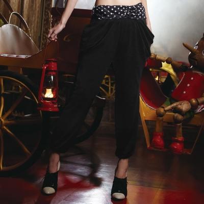 瑪登瑪朵-好正點 低腰家居縮口長褲(黑)