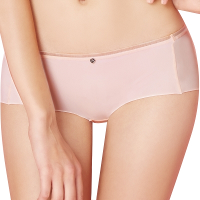 思薇爾 嗨Q Bra系列M-XL素面低腰平口褲(靄粉莓)