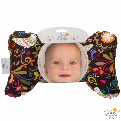 Baby Elephant Ears 熱帶小鳥款推車汽座護頸蝴蝶枕