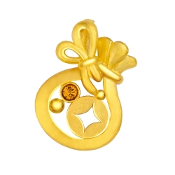 MANSTYLE 金袋財黃金墜 (約0.68錢) (幸運草金飾出品)