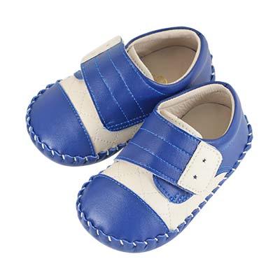 Swan天鵝童鞋-簡約菱格紋學步鞋1557-藍