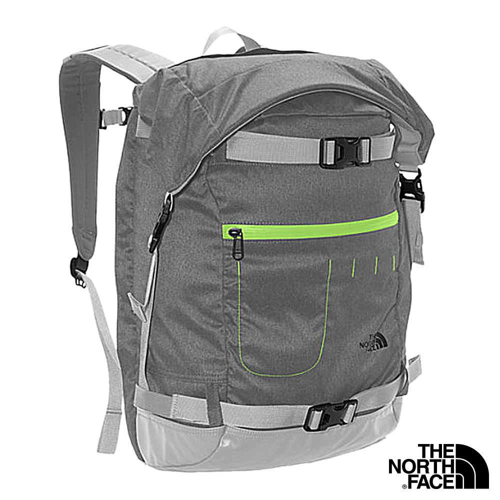 The North Face PICKFORD 校園雙肩背包 灰白/亮綠