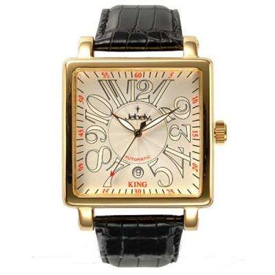 Jebely 萊茵河之戀系列 金色年華造型錶-白x金框/38mm