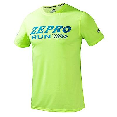 【ZEPRO】男子ZR馬拉松運動短T-綠