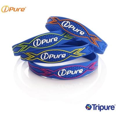 i-Pure 炫彩能量手環-土耳其藍系列-2入
