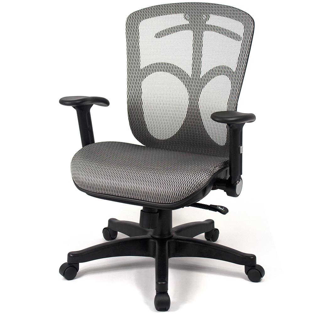 【aaronation】愛倫國度 - 舒適全透氣電腦網椅(LD338-灰)