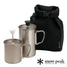 Snow peak 鈦金屬咖啡/奶泡組 CS-110