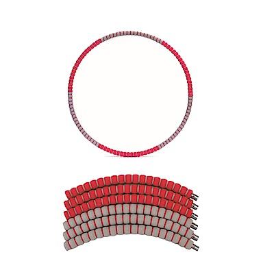 PUSH!拼接式鋅合金鋼管泡棉可調節加重設計呼拉圈瘦腰圈健身器材(加重款)H27