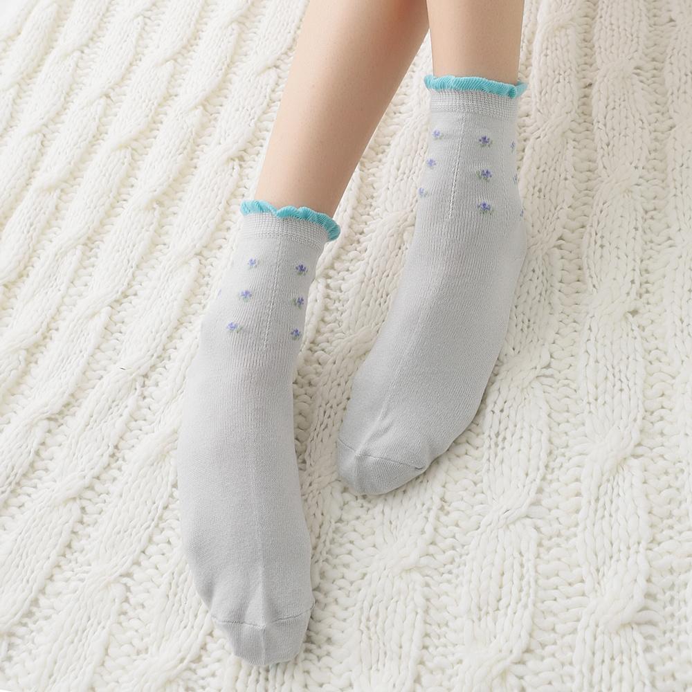 蒂巴蕾  絹少女襪-荷葉邊