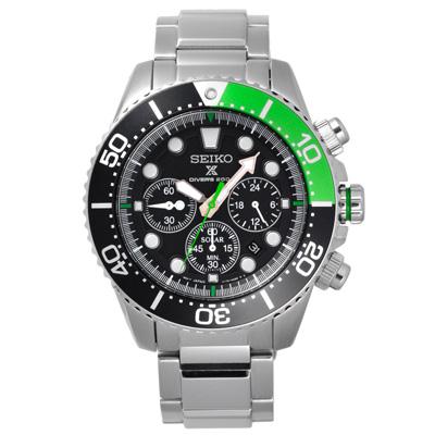 SEIKO 怒海潛將太陽能計時潛水腕錶-SSC615P1-44mm