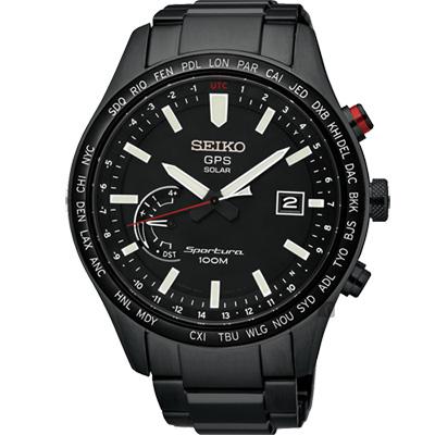 SEIKO精工Sportura GPS衛星定位太陽能腕錶(SSF005J1)-45mm