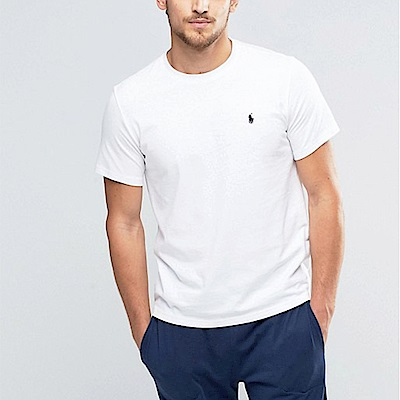Polo Rlaph Lauren 經典刺繡小馬短袖素面T恤-白色