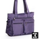 74盎司 雙口袋側背手提肩背包[TG-160]紫