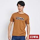 EDWIN 築地系列毛筆LOGO短袖T恤-男-土黃色