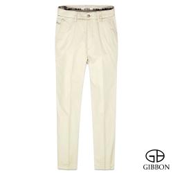 GIBBON 立體條紋輕量平口休閒褲‧淺黃31~42