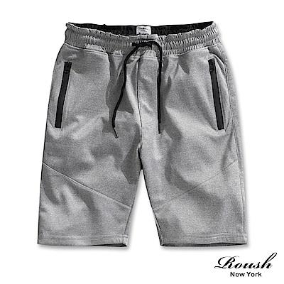 Roush 防水拉鍊特殊剪裁短棉褲(2色)