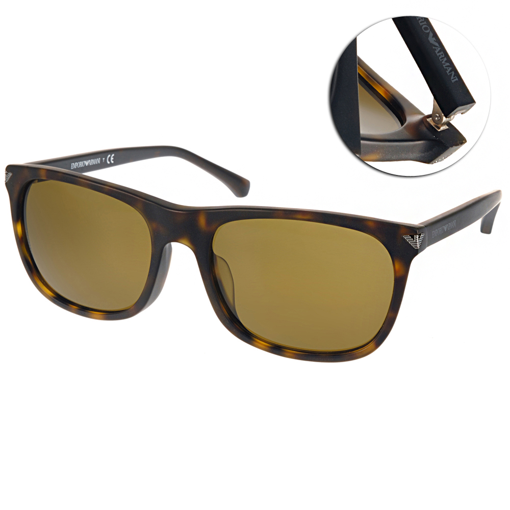 EMPORIO ARMANI太陽眼鏡 經典簡約/琥珀棕#EA4056F 508973