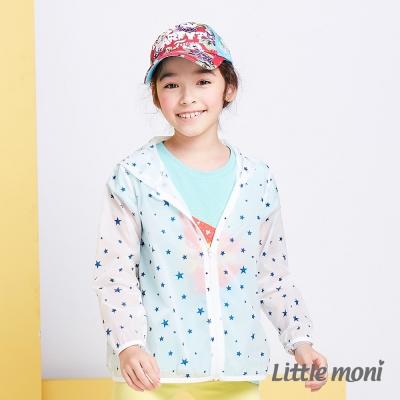 Little moni 夏日清透果凍防曬風衣外套  白色