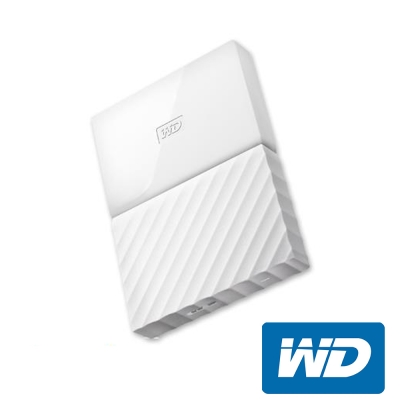 WD My Passport 1TB 2.5吋行動硬碟(WESN)-白色系