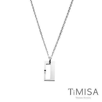 TiMISA《扣住幸福-小》純鈦項鍊(C)
