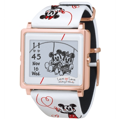 Smart Canvas Mickey & Minnie 戀愛 88 年 電子紙腕錶/ 39 mm