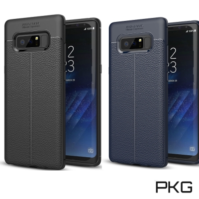 PKG  SAMSUNG S8PLUS 抗震防摔手機殼-抗手紋-皮紋系列