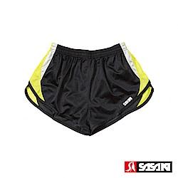 SASAKI 吸濕排汗田徑短褲-男-黑/艷黃/白