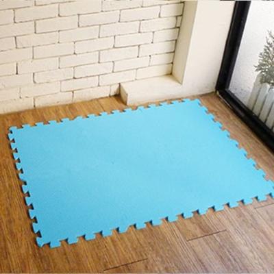 【新生活家】抗菌地墊32x32x1cm 活力藍6入