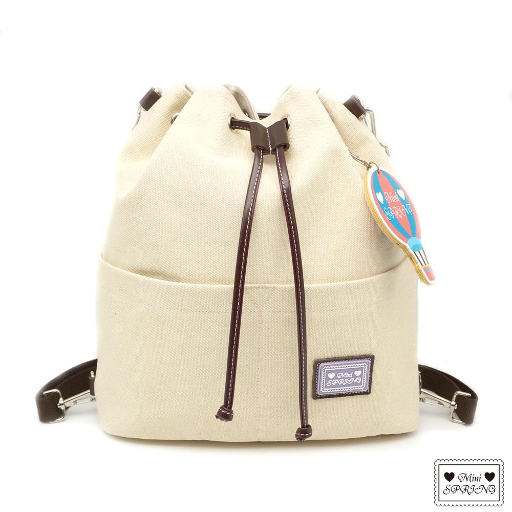MINI SPRING-一起旅行吧熱氣球帆布2WAY束口包 @ Y!購物